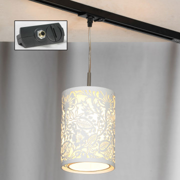 Светильник Lussole Loft Vetere LSF-2306-01-TAB, IP21, 1xE14x40W, белый, металл, металл с пластиком