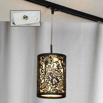 Светильник Lussole Loft Vetere LSF-2376-01-TAW, IP21, 1xE14x40W, черный, металл, металл с пластиком