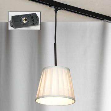 Подвесной светильник для шинной системы Lussole Loft Milazzo LSL-2916-01-TAB, IP21, 1xE14x40W, черный, белый, металл, текстиль