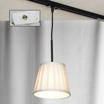Подвесной светильник для шинной системы Lussole Loft Milazzo LSL-2916-01-TAW, IP21, 1xE14x40W, черный, белый, металл, текстиль