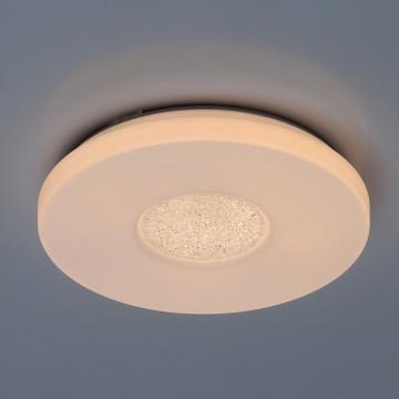 Потолочный светодиодный светильник De Markt Ривз 674017101, LED 18W 3000K (теплый), белый, матовый, металл, пластик