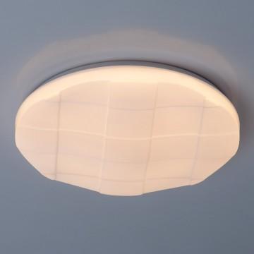 Потолочный светодиодный светильник De Markt Ривз 674017201, LED 24W 3000K (теплый), белый, металл, пластик