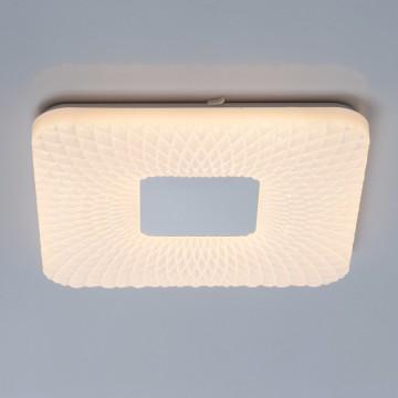Потолочный светодиодный светильник De Markt Ривз 674017301, LED 24W 3000K (теплый), белый, хром, металл, пластик