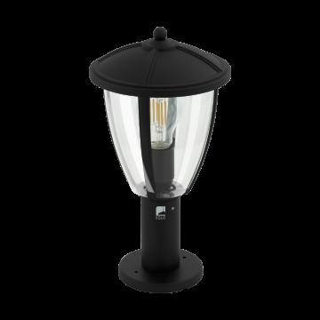Садово-парковый светильник Eglo Comunero 2 97337, IP44, 1xE27x60W, черный, прозрачный, металл, металл с пластиком