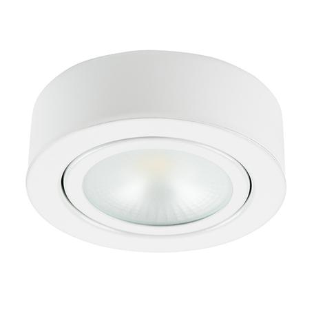 Мебельный светодиодный светильник Lightstar Mobiled 003350, LED 3,5W 3000K 270lm, белый, металл