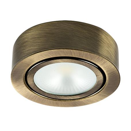 Мебельный светодиодный светильник Lightstar Mobiled 003351, LED 3,5W 3000K 270lm, бронза, металл