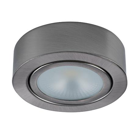 Мебельный светодиодный светильник Lightstar Mobiled 003355, LED 3,5W 3000K 270lm, никель, металл