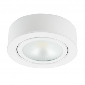 Мебельный светодиодный светильник для встраиваемого или накладного монтажа Lightstar MobiLED 003350, LED 3,5W 3000K 270lm, белый, металл