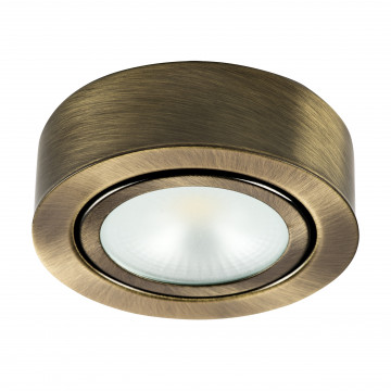 Мебельный светодиодный светильник для встраиваемого или накладного монтажа Lightstar MobiLED 003351, LED 3,5W 3000K 270lm, бронза, металл