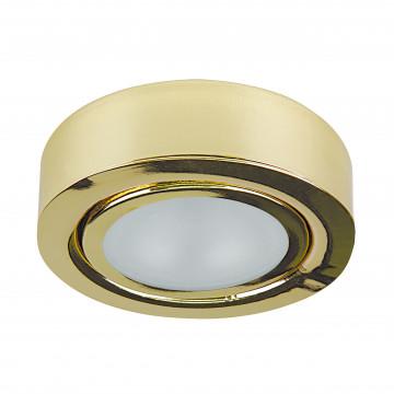 Мебельный светодиодный светильник для встраиваемого или накладного монтажа Lightstar MobiLED 003352, LED 3,5W 3000K 270lm, золото, металл