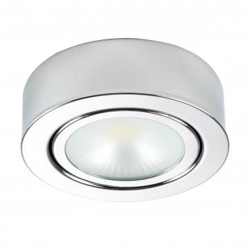Мебельный светодиодный светильник для встраиваемого или накладного монтажа Lightstar MobiLED 003354, LED 3,5W 3000K 270lm, хром, металл