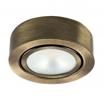 Мебельный светодиодный светильник для встраиваемого или накладного монтажа Lightstar MobiLED 003451, LED 3,5W 4000K 270lm, бронза, металл
