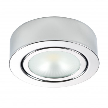 Мебельный светодиодный светильник для встраиваемого или накладного монтажа Lightstar MobiLED 003454, LED 3,5W 4000K 270lm, хром, металл