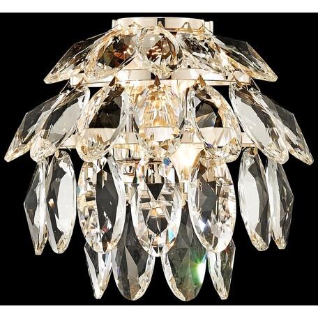 Бра Wertmark Ludgera WE113.02.301, 2xE14x40W, золото, прозрачный, металл, хрусталь