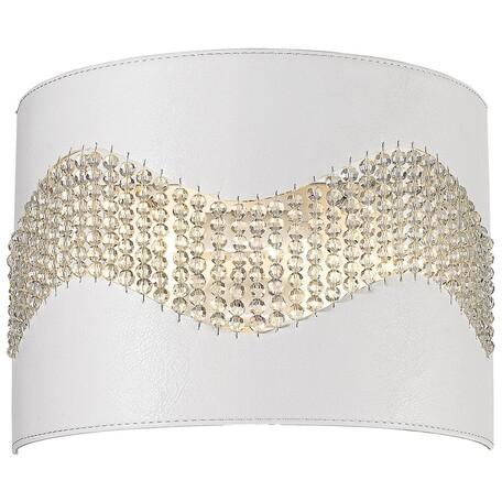 Настенный светильник Wertmark Adriana WE394.02.001, 2xE14x40W, белый, металл, кожа