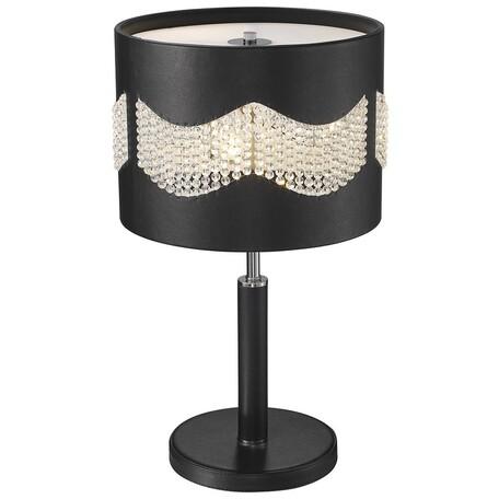 Настольная лампа Wertmark Adriana WE394.03.024, 3xE27x40W, черный, кожа/кожзам