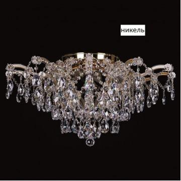Подвесная люстра Artglass MARIA TEREZIA 40 NICKEL CE, 12xE14x40W, никель, прозрачный, металл, хрусталь Artglass Crystal Exclusive