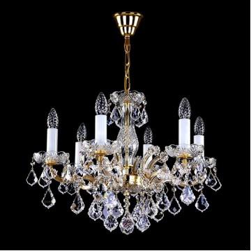 Подвесная люстра Artglass MARIA TEREZIA 47 CE, 6xE14x40W, белый, золото, прозрачный, стекло, хрусталь Artglass Crystal Exclusive