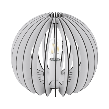 Настольная лампа Eglo Cossano 94949, 1xE27x60W, белый, черно-белый, дерево