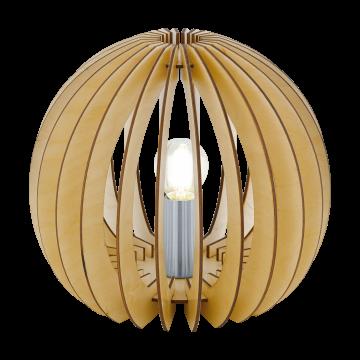 Настольная лампа Eglo Cossano 94953, 1xE27x60W, коричневый, никель, дерево, металл