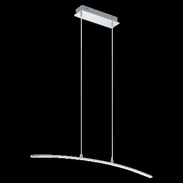 Подвесной светодиодный светильник Eglo Lasana 32048, LED 14W 3000K 1400lm CRI>80, хром, металл, металл с пластиком, пластик