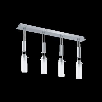 Подвесной светодиодный светильник Eglo Aggius 91546, LED 24W, 3000K (теплый), хром, белый, прозрачный, металл, стекло