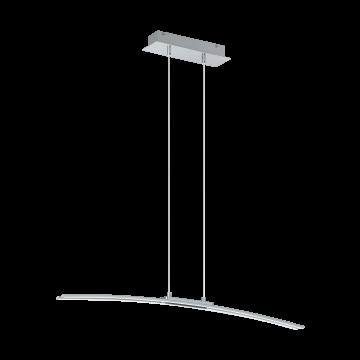 Подвесной светодиодный светильник Eglo Lasana 95147, LED 30W 3000K 2500lm CRI>80, хром, металл, металл с пластиком, пластик
