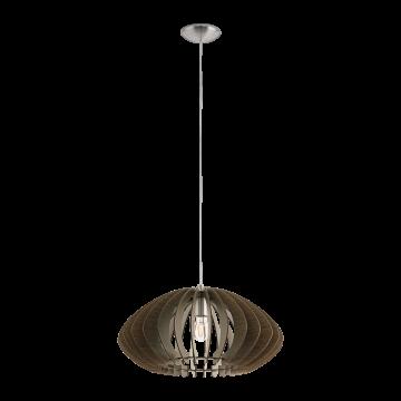 Подвесной светильник Eglo Cossano 2 95261, 1xE27x60W, никель, коричневый, металл, дерево