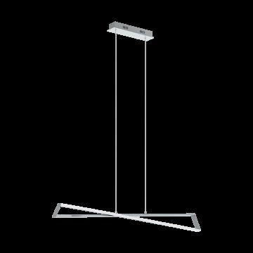 Подвесной светодиодный светильник Eglo Agrela 95566, LED 28,8W 3000K 3400lm, хром, металл, металл с пластиком, пластик