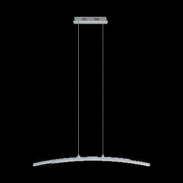 Подвесной светодиодный светильник Eglo Pertini 96096, LED 21,6W 3000K 2600lm, хром, прозрачный, металл, металл с пластиком, пластик