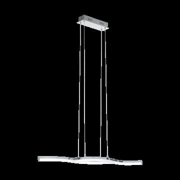 Подвесной светодиодный светильник Eglo Lasana 2 96101, LED 21W 3000K 2600lm, хром, металл, металл с пластиком, пластик
