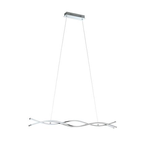 Подвесной светодиодный светильник Eglo Lasana 2 96102, LED 39W 3000K 5400lm, хром, металл, металл с пластиком, пластик