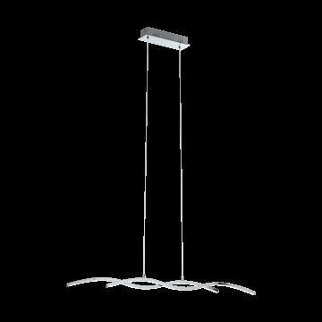 Подвесной светодиодный светильник Eglo Lasana 2 96103, LED 18W 3000K 2000lm, хром, металл, металл с пластиком, пластик