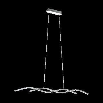Подвесной светодиодный светильник Eglo Lasana 2 96104, LED 28W 3000K 3800lm, хром, металл, металл с пластиком, пластик