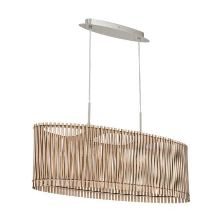 Подвесной светильник Eglo Sendero 96194, 2xE27x60W, никель, коричневый, металл, дерево