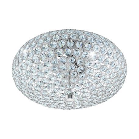 Потолочная люстра Eglo Clemente 95284, 2xE27x60W, хром, прозрачный, металл, хрусталь с металлом
