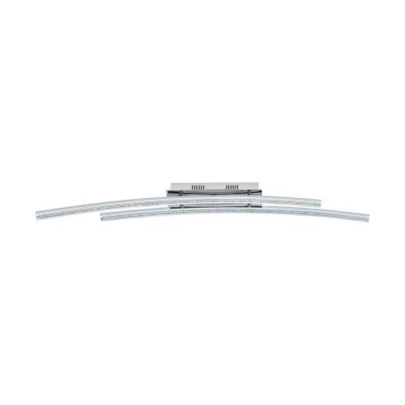 Потолочный светодиодный светильник Eglo Pertini 96092, LED 21,6W 3000K 2600lm, хром, прозрачный, металл, металл с пластиком, пластик