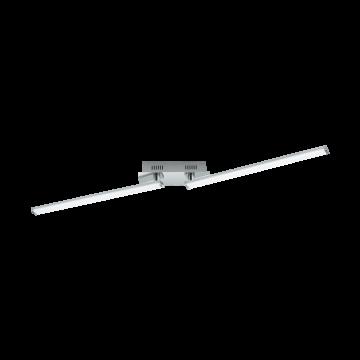 Потолочный светодиодный светильник с регулировкой направления света Eglo Lasana 2 96107, LED 18W 3000K 2200lm, хром, металл, металл с пластиком, пластик
