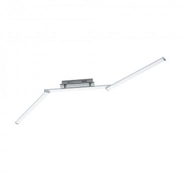 Потолочный светодиодный светильник с регулировкой направления света Eglo Lasana 2 96108, LED 23,4W 3000K 3000lm, хром, металл, металл с пластиком, пластик