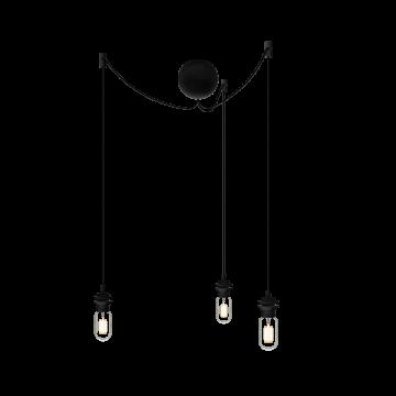 Люстра-паук Umage Cannonball Cluster 4092, 3xE27x15W, черный, пластик, текстиль