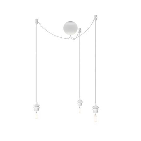 Люстра-паук Umage Cannonball Cluster 4090, 3xE27x15W, белый, пластик, текстиль