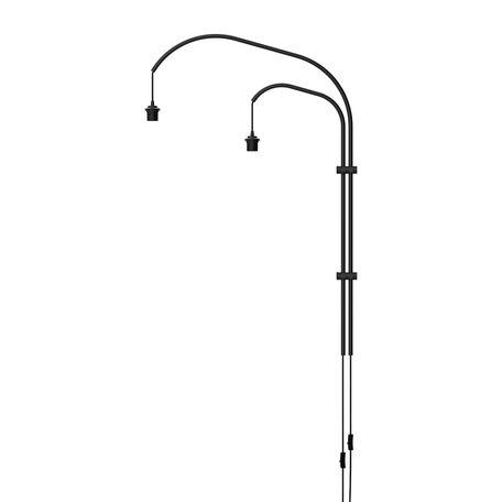 Основание бра Umage Willow 4131, 2xE27x15W, черный, металл