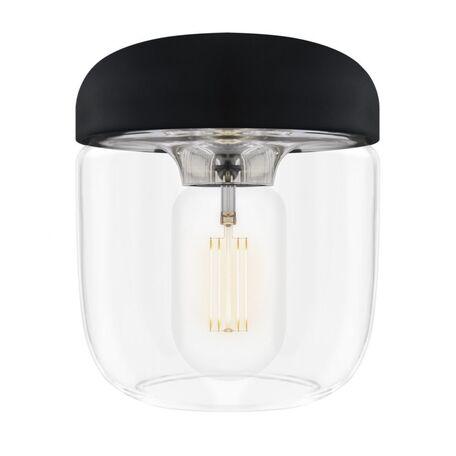 Плафон Umage Acorn 2081, сталь, черный, прозрачный, металл, пластик, стекло