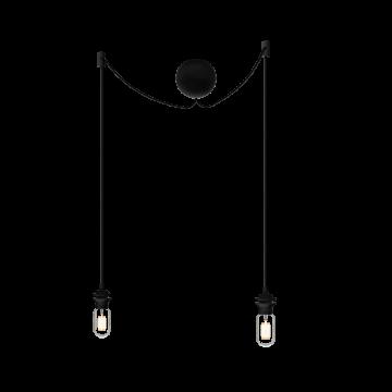 Подвесной светильник Umage Cannonball Cluster 4091, 2xE27x15W, черный, пластик, текстиль