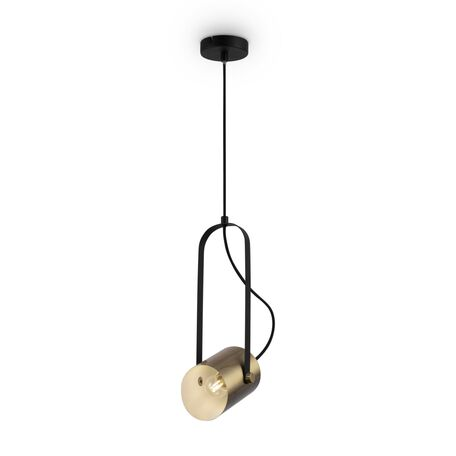 Светильник Freya Elori FR4004PL-01BBS, 1xE27x25W, черный, латунь, металл