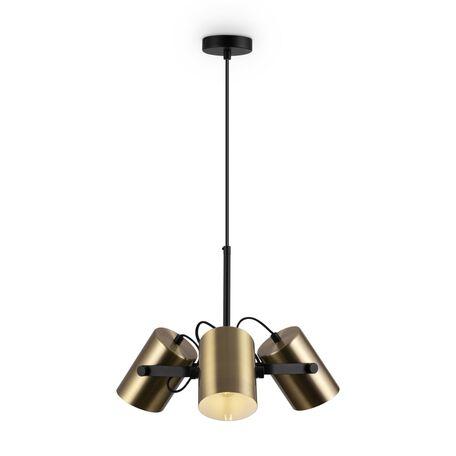 Светильник Freya Elori FR4004PL-03BBS, 3xE27x25W, черный, латунь, металл