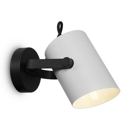 Светильник Freya Elori FR4004WL-01WB, 1xE27x60W, черный, белый, металл