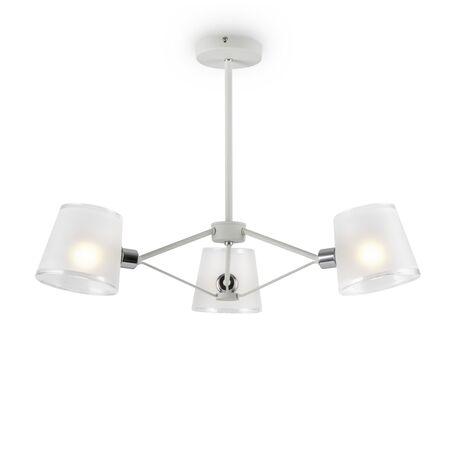 Светильник Freya Gino FR5108PL-03CH, 3xE14x40W, белый с хромом, белый, металл, стекло