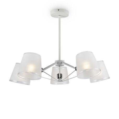 Светильник Freya Gino FR5108PL-05CH, 5xE14x40W, белый с хромом, белый, металл, стекло
