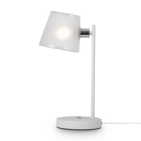 Светильник Freya Gino FR5108TL-01CH, 1xE14x40W, белый с хромом, белый, металл, стекло